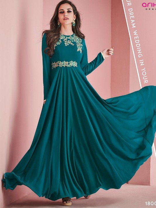 b2d9cd4b8d Dazzling Look Long Kurthi In Sea Green Color – Rayhment Apparel